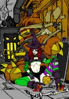 Halloween Lineart Colored by Dystopia3000