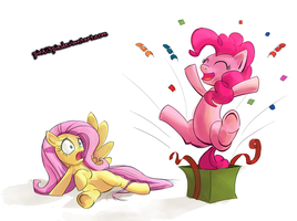 Surprise Fluttershy ! by Pinki3pie