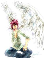 Daisuke with Wings - COlour by Samoubica
