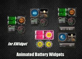 Animated Battery Widgets for xwidget by jimking