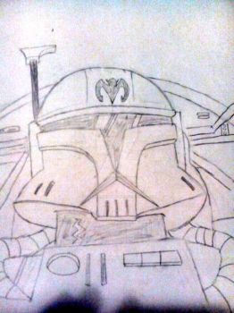 Arc Trooper Gunship Pilot ( sketch ) by CloneTrooperTwelve