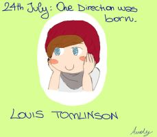 Louis Tomlinson when the 1D was born. by Pancake9Andy