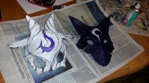 league of legends: kindred masks by KaonashiNoface