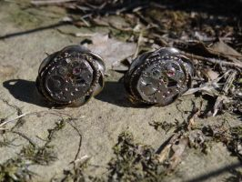 Vintage steampunk victorian cufflinks by Hiddendemon-666