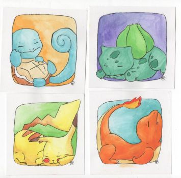 Sleeping Pokemon by sawieb