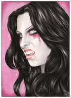Portrait of a vampire by Zindy