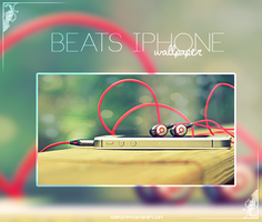 Beats Iphone {Wallpaper} by Julieta7599