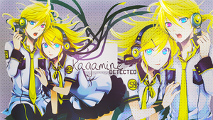Wallpaper Kagamine Detected by Asunaw
