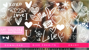 + My Valentine  Brushes  by natieditions00