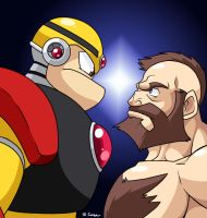 Gutsman VS Zangief by rongs1234