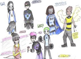 teen titans children by bricktherouge