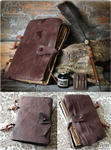 Leather Notebook with Quill by Nymla