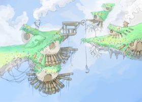 town in the sky by Jump-Button