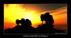 Sunset somewhere in bitspace by Lorvija