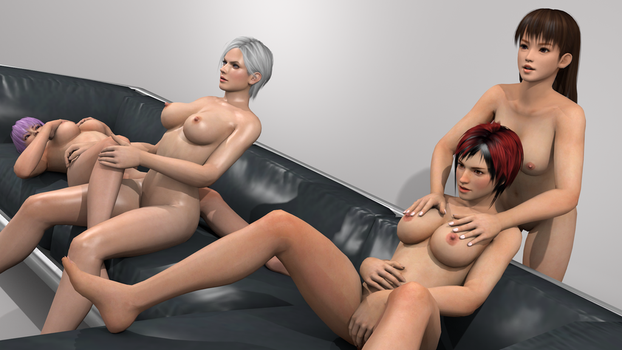 Couch Session Lei Fang, Mila, Ayane and Christie 4 by vamp3003