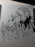 Fire and pain _WIP_ by thelunapower