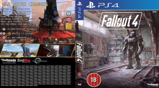 Fallout 4 PS4 Cover (fan made) by Jordanshaw1900