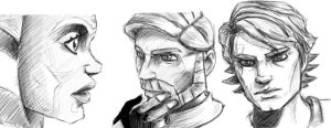Clone Wars Sketches by Boom-Pop-Ping
