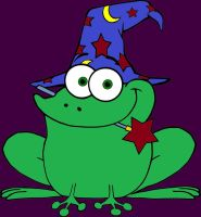 colour-page-of-wizard-frog-with-a-magic-wand-In-mo by bigkrocks