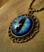 Ocean Mist Dream - Bronze Dragon Eye Pendant by LadyPirotessa