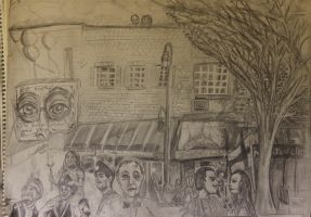 Updated Main Street Drawing by CharlieJacksonPaine3