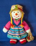 Aunt Sally Hand knitted Doll by Supach