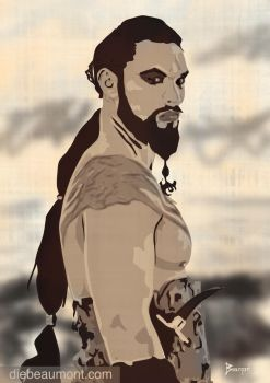 Khal Drogo Game of Thrones by jakwolff