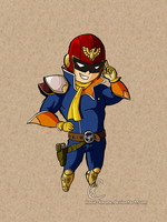 Captain Falcon tooned by Know-Kname