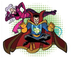 Dr. Strange and Clea by tzahler