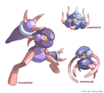 Pokemon Creation : Anemonite and evolutions by Tomycase