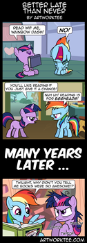Comic: Better Late than Never by artwork-tee