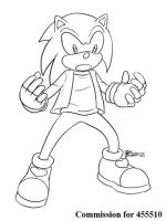 COM : Sonic in casual 2 SKETCH by whiteguardian