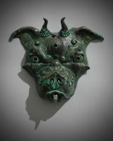 Tibetan Pit Bull Mask 3 by DaveRichardsonArt