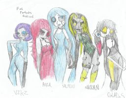AI FEMALE group by Jinxdaunluckykitten1