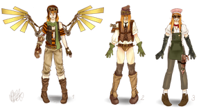 Steampunk males by miesmud