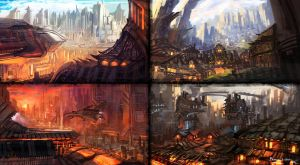 4-Piece Environment Concepts by whatzitoya