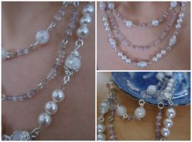 Quartz, Pearls and Amethyst by madewithloveL