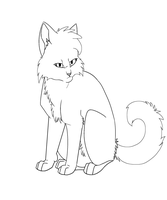 Warrior Cats character base- Long fur by RussianBlues