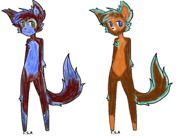 Anthro adopts by Lady-WynterFyre