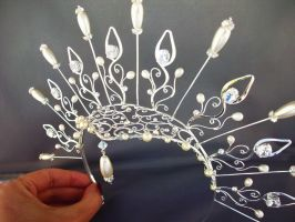 Elizabethan inspired headpiece by ElnaraNiall