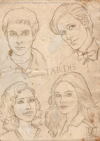 The new team TARDIS by ScarletMoonbeam