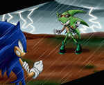 Sonic vs Scourge - Contest by SweetSilvy