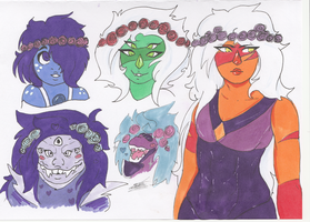 Steven Universe: Flower Crowns by Smabbles