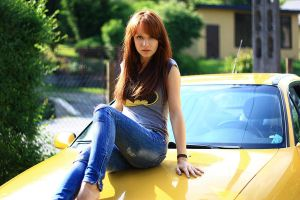 yellow car by pathyelisia
