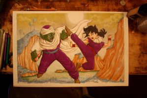 Piccolo, Gohan, DBZ commission by cimmerianwillow