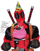 Happy Birthday from Deadpool by s133pDEADart
