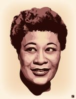 Ella Fitzgerald by monsteroftheid