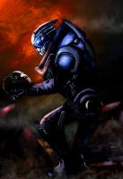 Garrus On The Citadel2 by DVAS12