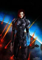 ME3 - Commander Shepard by Ayshala