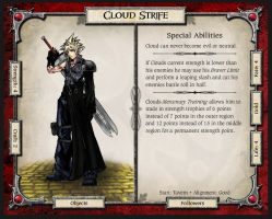 Cloud Strife Character Card by Talis-MANiac
